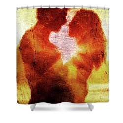 Embrace Shower Curtain by Andrea Barbieri