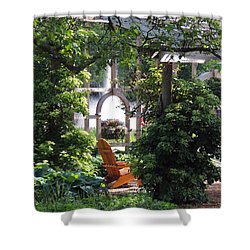 Embrace Spring Shower Curtain by Teresa Schomig