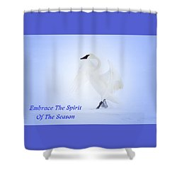Embrace The Spirit Of The Season Shower Curtain by Gary Hall