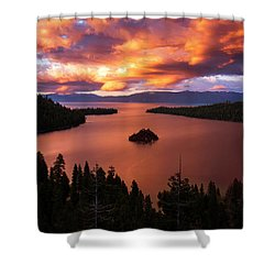 Emerald Bay Fire Shower Curtain