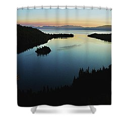 Emerald Bay, Lake Tahoe, Dawn Shower Curtain