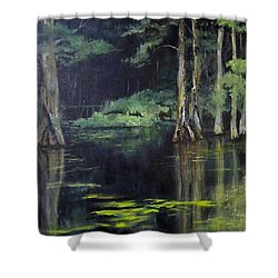 Emerald Bayou Shower Curtain