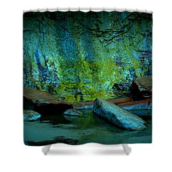 Emerald Cave Shower Curtain