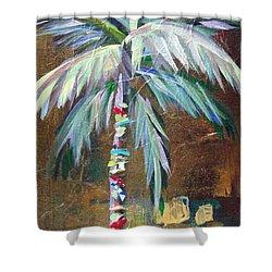 Emerald Fire Palm  Shower Curtain by Kristen Abrahamson