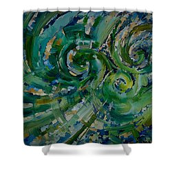 Emerald Green Shower Curtain