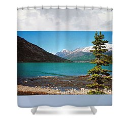 Emerald Lake Chilkoot Trail Alaska Shower Curtain
