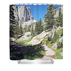 Emerald Lake Trail - Rocky Mountain National Park Shower Curtain