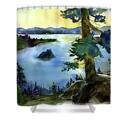 Emerald Morn, Lake Tahoe Shower Curtain