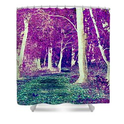 Emerald Path Shower Curtain