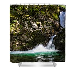 Shower Curtain featuring the photograph Emerald Pool by David Stine