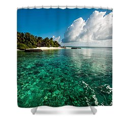 Emerald Purity. Maldives Shower Curtain