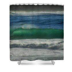 Emerald Sea Shower Curtain by Donna Blackhall