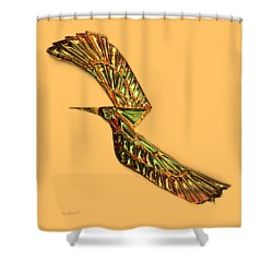 Emerald Wings Shower Curtain