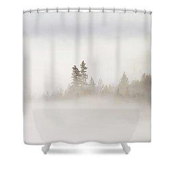 Emergence Shower Curtain by Mike  Dawson