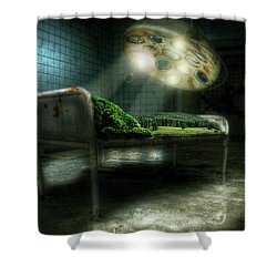 Shower Curtain featuring the digital art Emergency Nature  by Nathan Wright