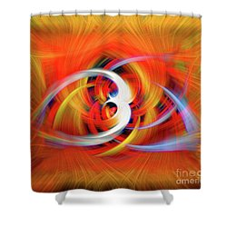 Emerging Light From A Colorful Vortex Shower Curtain