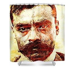 Emiliano Zapata Shower Curtain by J- J- Espinoza