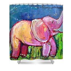 Emily's Elephant 2 Shower Curtain