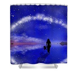 Shower Curtain featuring the digital art Emily's Journey Part 1 by Bernd Hau