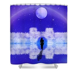 Shower Curtain featuring the digital art Emily's Journey Part II by Bernd Hau
