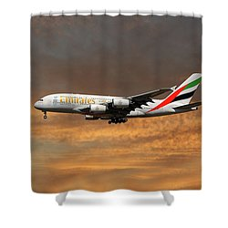 Emirates Airbus A380-861 3 Shower Curtain