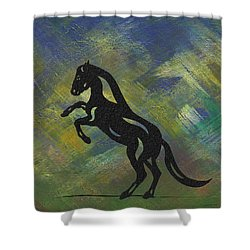 Emma - Abstract Horse Shower Curtain