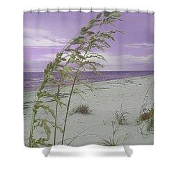 Emma Kate's Purple Beach Shower Curtain