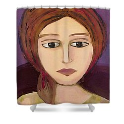 Shower Curtain featuring the digital art Emma by Lisa Noneman