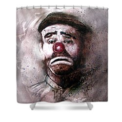 Emmit Kelly Clown Shower Curtain