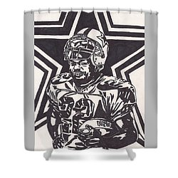Emmitt Smith Shower Curtain by Jeremiah Colley