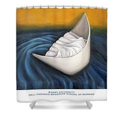 Shower Curtain featuring the painting Emory University Nell Hodgson Woodruff School Of Nursing by Marlyn Boyd