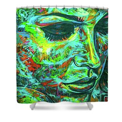 Emotion Green Shower Curtain