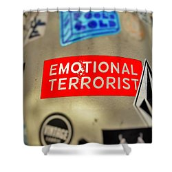 Emotional Terrorist In New York  Shower Curtain by Funkpix Photo Hunter