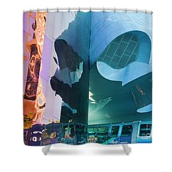 Shower Curtain featuring the photograph Emp Psychadelic by Chris Dutton