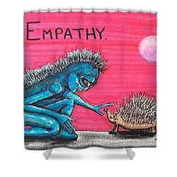Empathetic Alien Shower Curtain