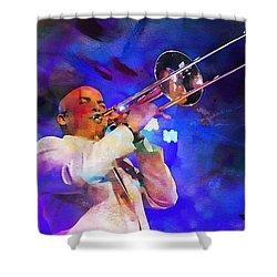 Emperor Of Salsa Dura, Jimmy Bosch  Shower Curtain