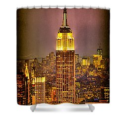 Empire Light Shower Curtain by Chris Lord