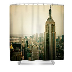 Empire State Building New York Cityscape Shower Curtain by Vivienne Gucwa