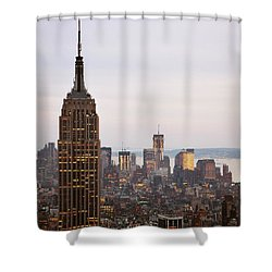 Shower Curtain featuring the photograph Empire State Building No.2 by Zawhaus Photography
