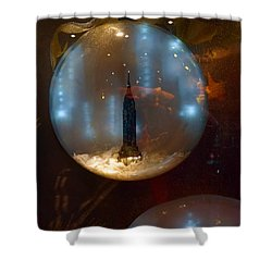 Empire State Christmas Shower Curtain
