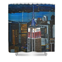 Empire State Shower Curtain by Donna Blossom