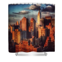 Empire State In Gold Shower Curtain