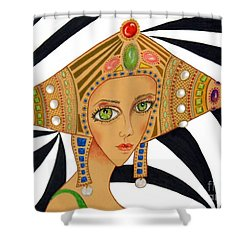 Empress Exotica -- Whimsical Exotic Woman Shower Curtain