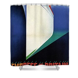 Empress Of Britain - Canadian Pacific - Steamship - Retro Travel Poster - Vintage Poster Shower Curtain