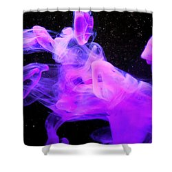 Emptiness In Harmony - Fine Art Photography - Paint Pouring Shower Curtain