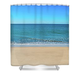 Empty Beach Shower Curtain