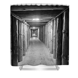 Shower Curtain featuring the photograph Empty Corridor by Juli Scalzi