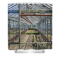 Empty Greenhouse Shower Curtain