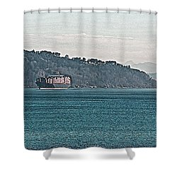 Empty Or Full? Shower Curtain by John Rossman
