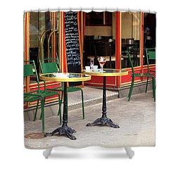 Empty Paris Cafe Shower Curtain